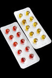 The set of pills Royalty Free Stock Photos