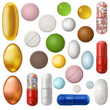 Set of pills Stock Photography