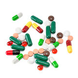 Set of pills. Isolated on white background Stock Image