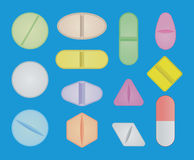 Set of pills Royalty Free Stock Photography