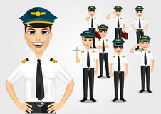 Set of pilots Stock Image