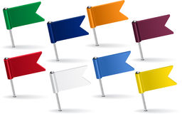 Set of pin icon flags. Vector illustration. Eps 8 Royalty Free Stock Photography