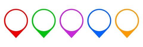 Set pin map marker pointer icon, GPS location flat symbol – vector vector illustration