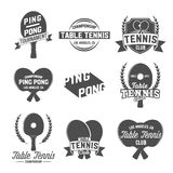 Set of  ping pong emblems, labels, badges and designed elements Royalty Free Stock Images