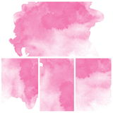 Set of pink Abstract water color art paint. Set of colorful Abstract water color art hand paint background Royalty Free Stock Image