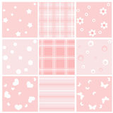 Set pink baby seamless. Stock Images