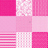 Set with pink backgrounds Royalty Free Stock Photos