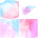 Set of pink blue Abstract water color background Stock Photography