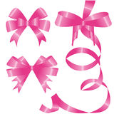 A set of pink bow Royalty Free Stock Image