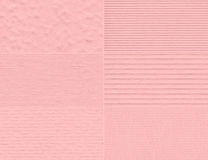 Set of pink delicate textures. Royalty Free Stock Image
