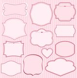 Set of pink  frames Royalty Free Stock Photography