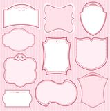 Set of pink  frames Stock Images