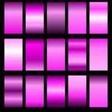 Set pink gradients Royalty Free Stock Photo
