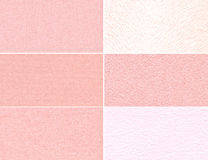 Set of pink granular textures Royalty Free Stock Photo