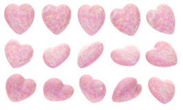 Set of Pink hearts Royalty Free Stock Image
