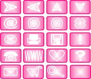 Set of pink icons Stock Image
