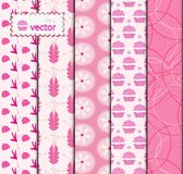 Set Pink patterned Royalty Free Stock Photo