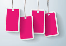 Set of pink price stickers Stock Photography