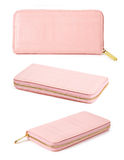 Set of pink purse woman. Stock Image