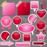 Set of pink and red elements Royalty Free Stock Photography