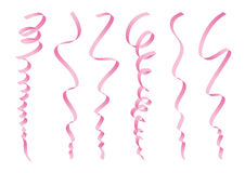 Set of pink ribbons design Stock Images