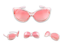 Set of pink sunglasse. S isolated on the white background Royalty Free Stock Images