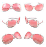 Set of pink sunglasses. Isolated on the white background Royalty Free Stock Image