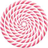 Set of pink twisted hard candy cane frame with shadow. EPS 10 vector illustration