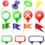 Set of Pins Royalty Free Stock Photography