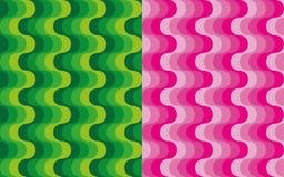 Set pionowo fala wzory Zdjęcia Stock