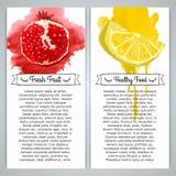 Set pionowo szablon pocztówki lub broszurki Ilustracja Wektor