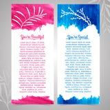 Set pionowo szablony dla broszurek, powitanie Ilustracji