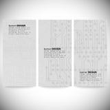 Set pionowo sztandary Mikroukładów tła, Obrazy Royalty Free