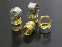 Set of pipe fittings Stock Images