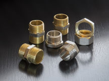 Set of pipe fittings Royalty Free Stock Photos