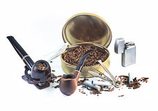 Set for pipe Smoking Royalty Free Stock Image