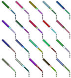 A set of pipettes with liquid. Raster Stock Images