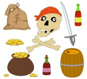 Set of piracy objects Stock Photos