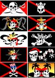 Set of pirate flags. Jolly Roger. 03 (vector) Royalty Free Stock Photography