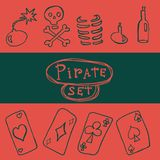 Set of pirate icon Royalty Free Stock Photo
