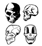 Set of pirate skulls and crossbones Stock Photos