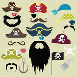 Set of Pirates Elements Royalty Free Stock Photos