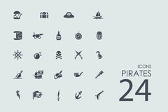 Set of pirates icons Stock Photography