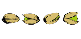 Set of pistachio Royalty Free Stock Photography