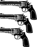 Set of pistols Royalty Free Stock Photos