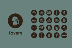 Set piwne proste ikony Obrazy Royalty Free