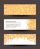 Set of pixel banners on dark background. Vector illustration Stock Photography