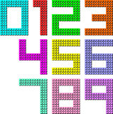 Set of pixel digit numbers. Vector illustration Royalty Free Stock Image