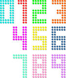 Set of pixel digit numbers. Vector illustration Stock Photography