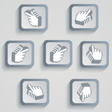 Set of pixel icons with shades of gray Royalty Free Stock Photography